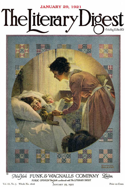 File:1921-01-29-The-Literary-Digest-Norman-Rockwell-cover-Mother-Tucking-Children-400-Digimarc.jpg
