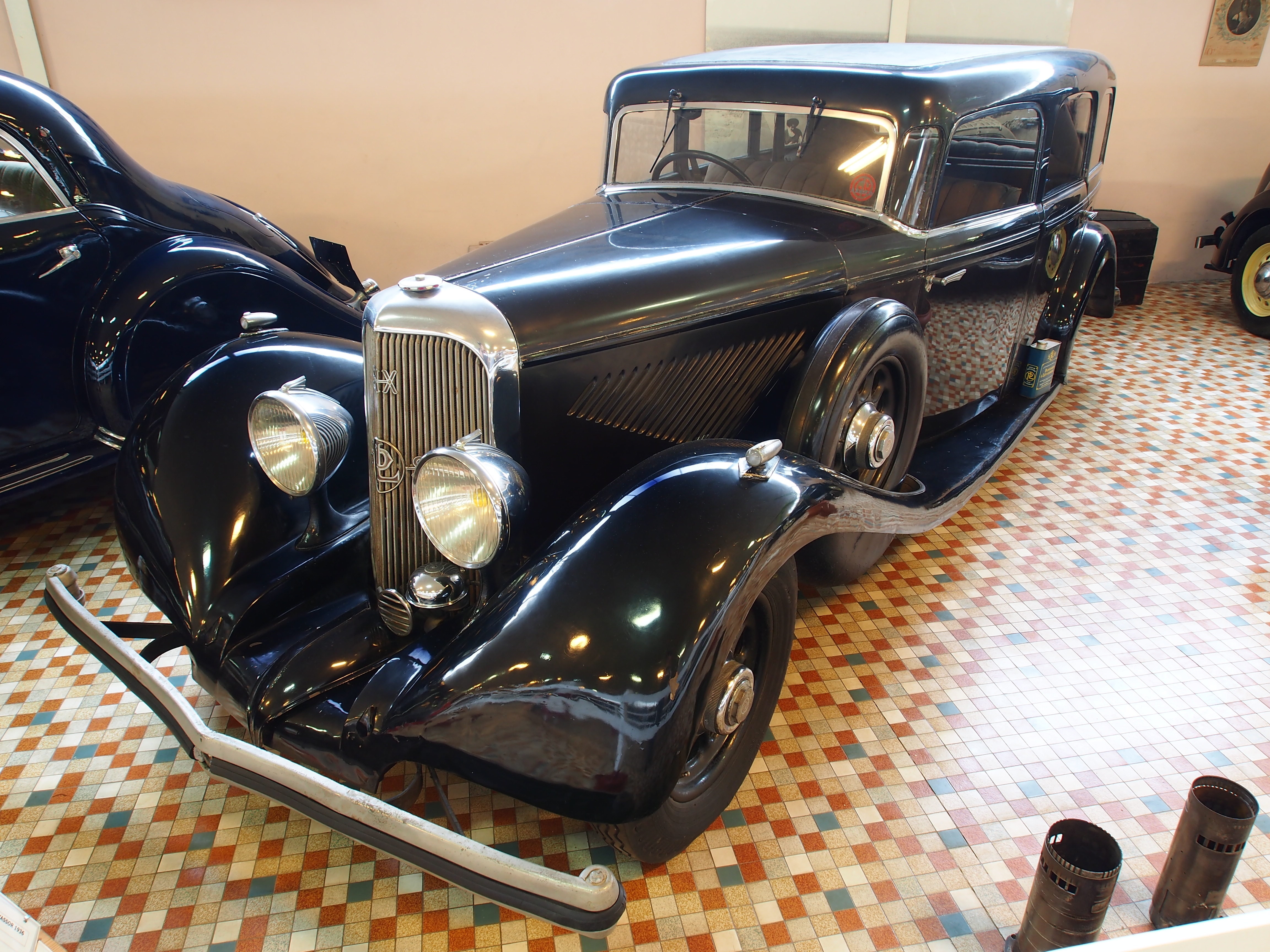 file 1936 panhard levassor x72 panoramique at the mus e. Black Bedroom Furniture Sets. Home Design Ideas