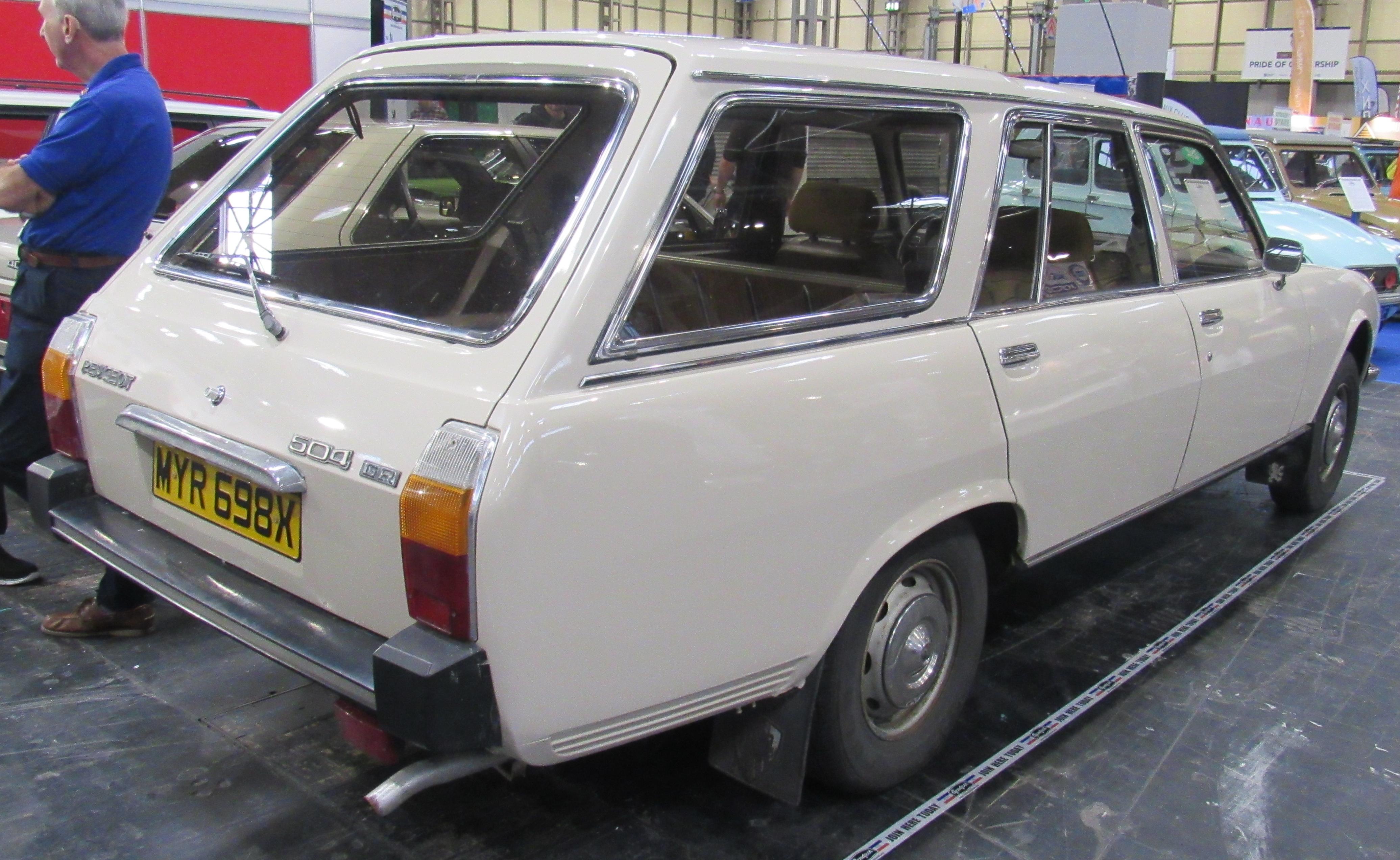 File 1982 Peugeot 504 Gr Break 2 0 Rear Jpg Wikimedia Commons