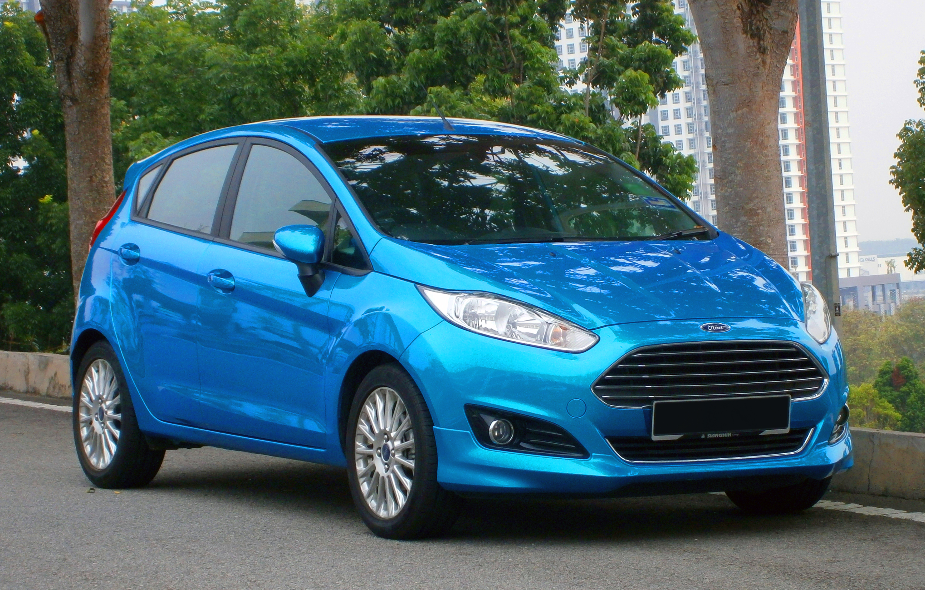 file 2014 ford fiesta 1 5l sport in cyberjaya malaysia 01 jpg wikimedia commons. Black Bedroom Furniture Sets. Home Design Ideas