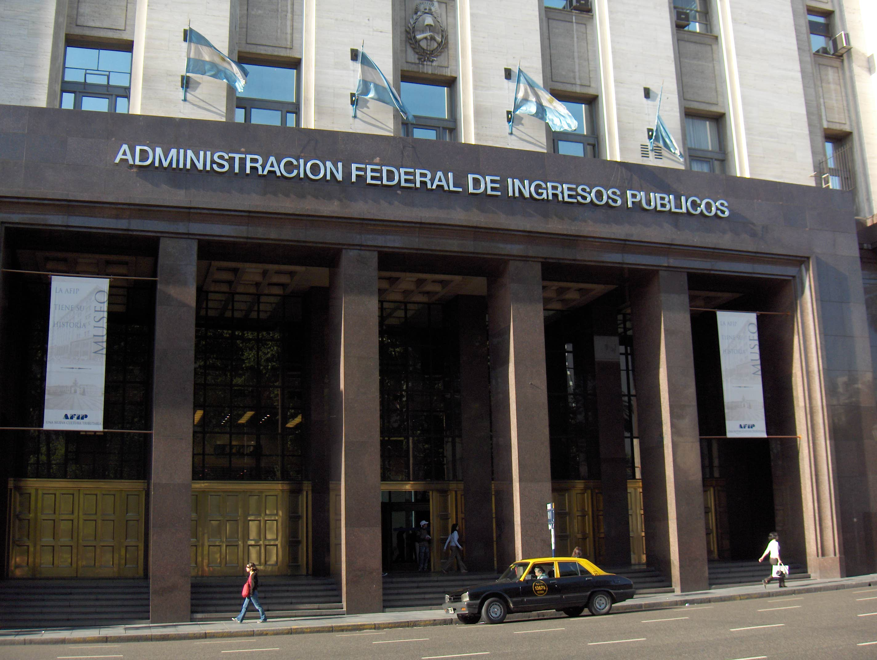 Edificio de la AFIP en Capital Federal