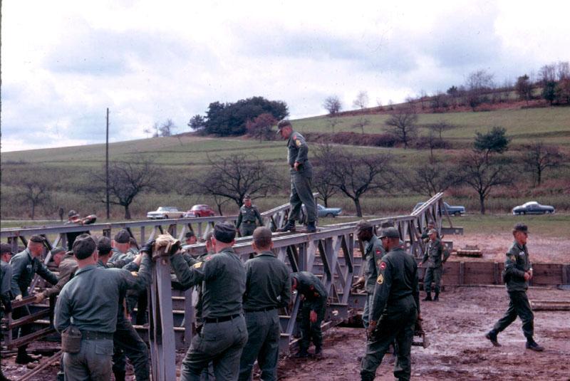 Description a co 9th engineers bailey bridge exercise spring 1966
