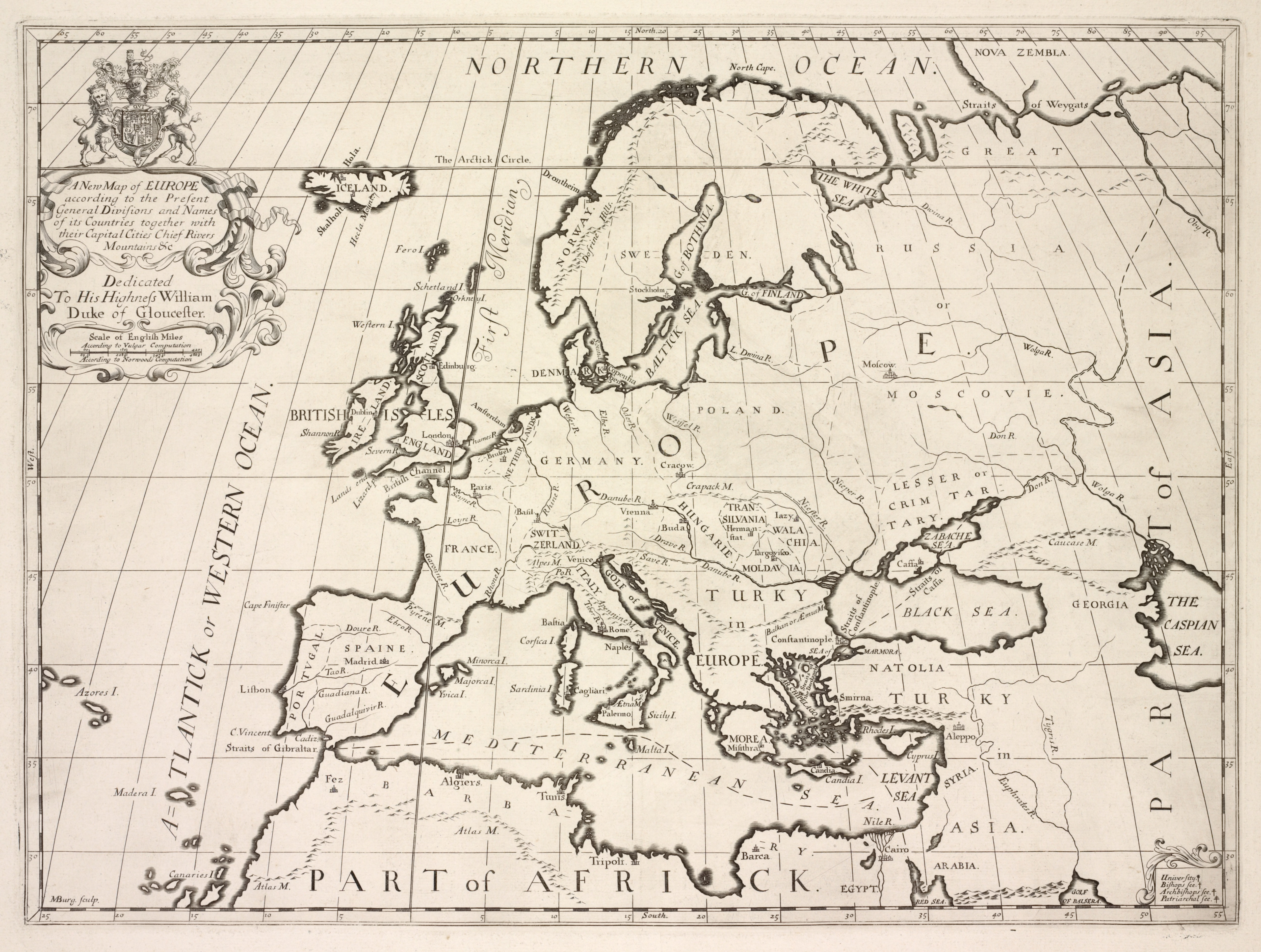 FileA new map of Europe according to the present general – Map of Europe with Cities and Rivers