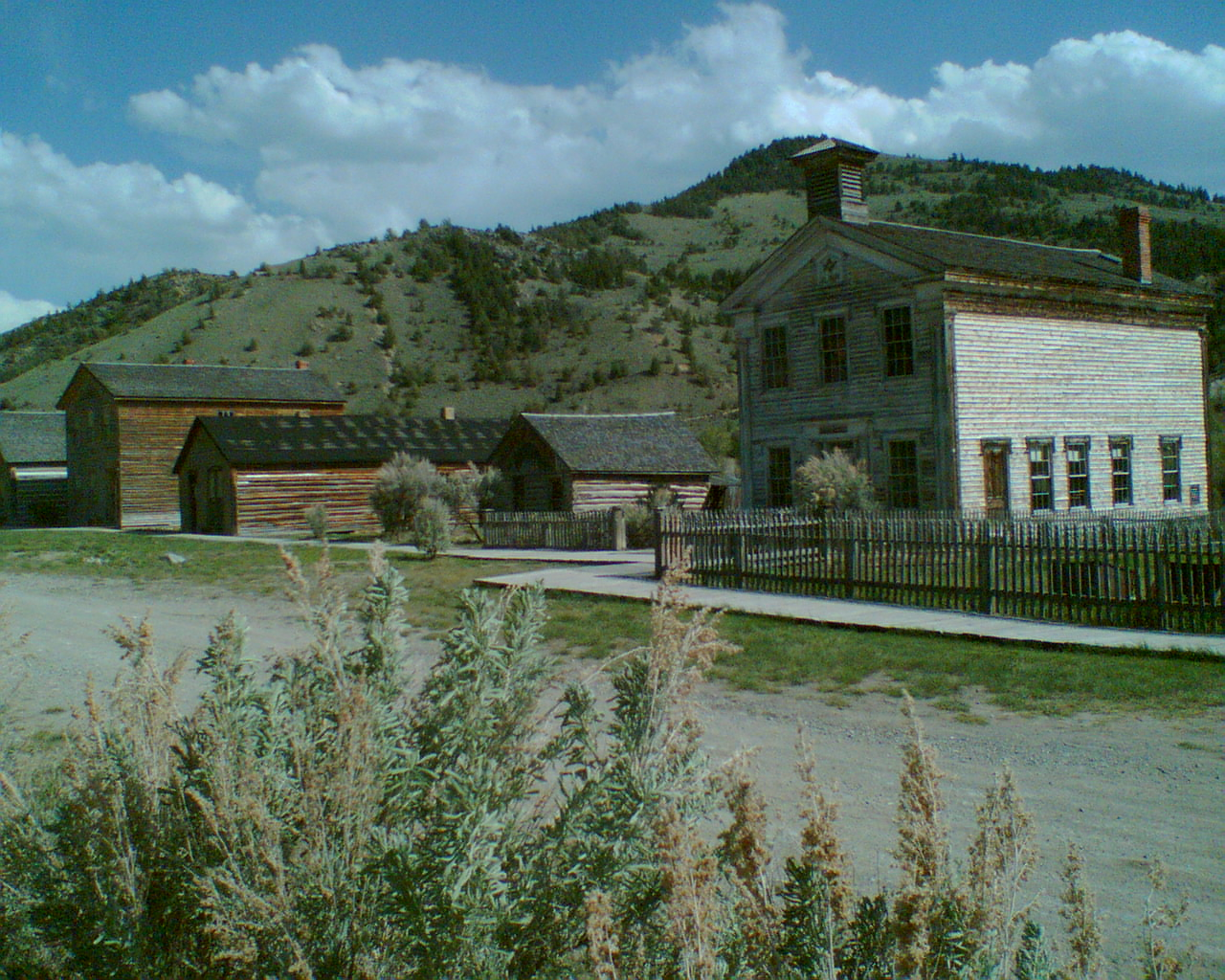 Abandoned buildings in the ghost town of Bannack, Montana, USA