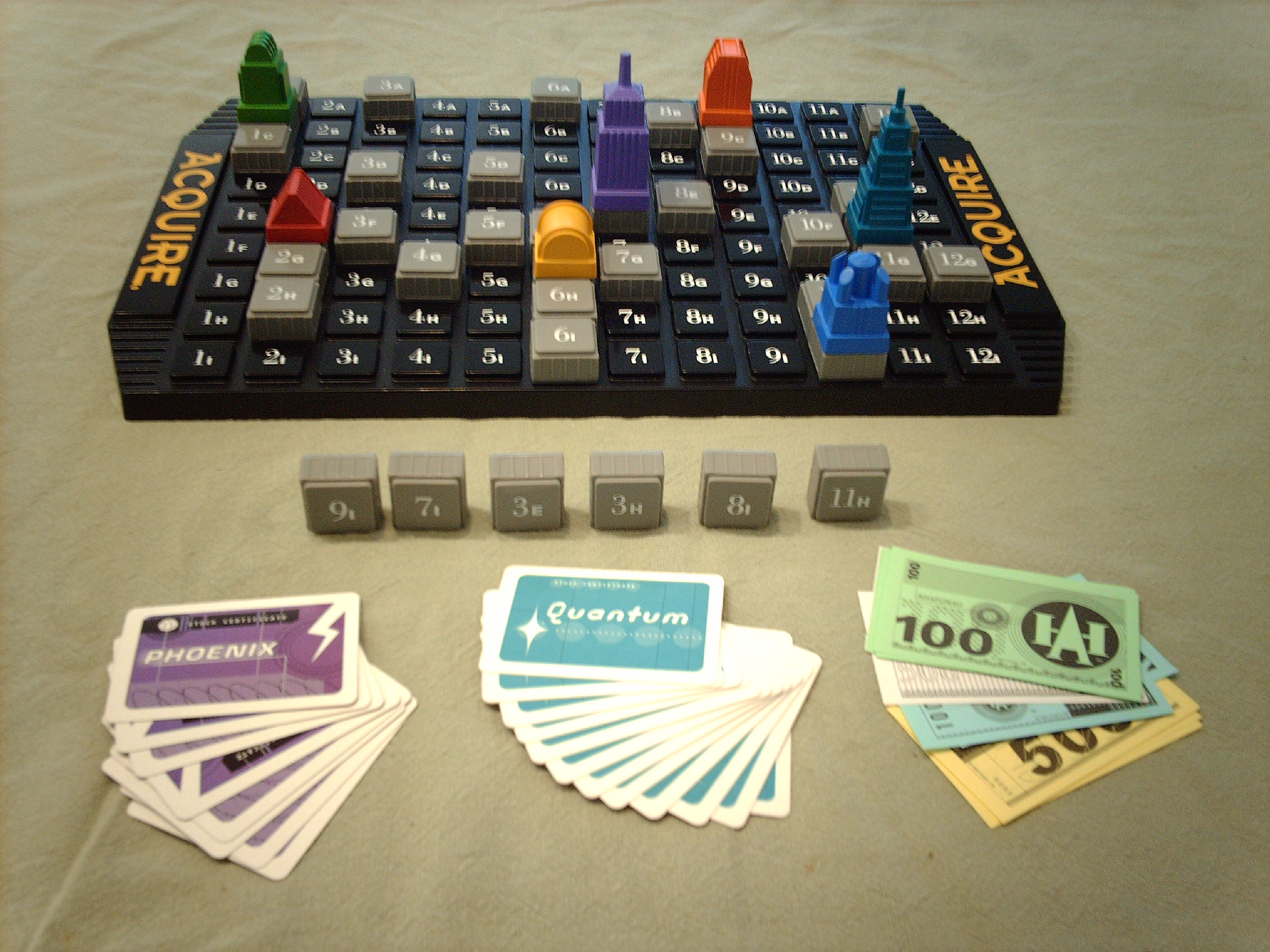 1 Individual Information Card for 1999 Hasbro Game of ACQUIRE