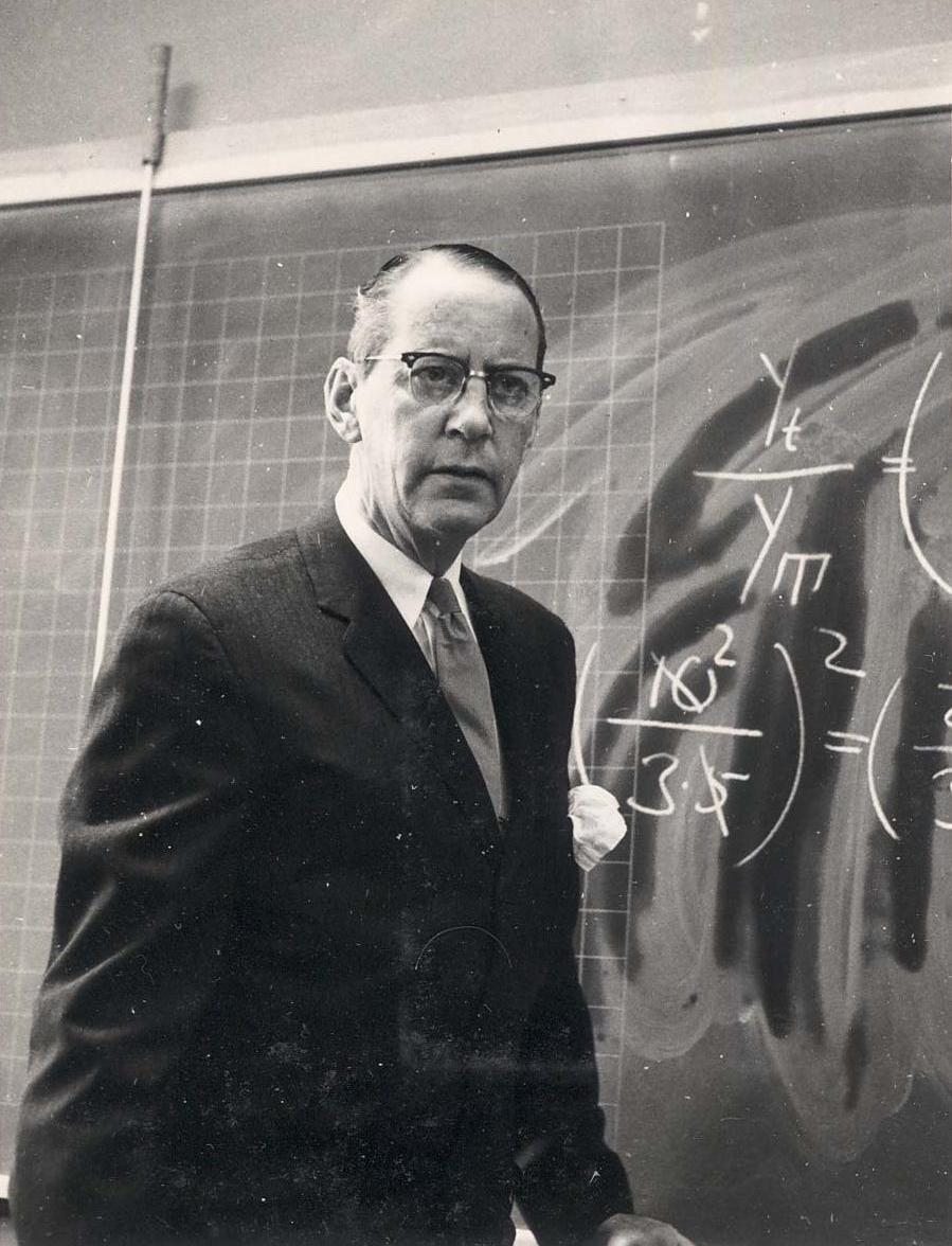 Retired army major Agnar O. P. Strandberg taught math and physics at a junior college in Sweden, in the 1960s