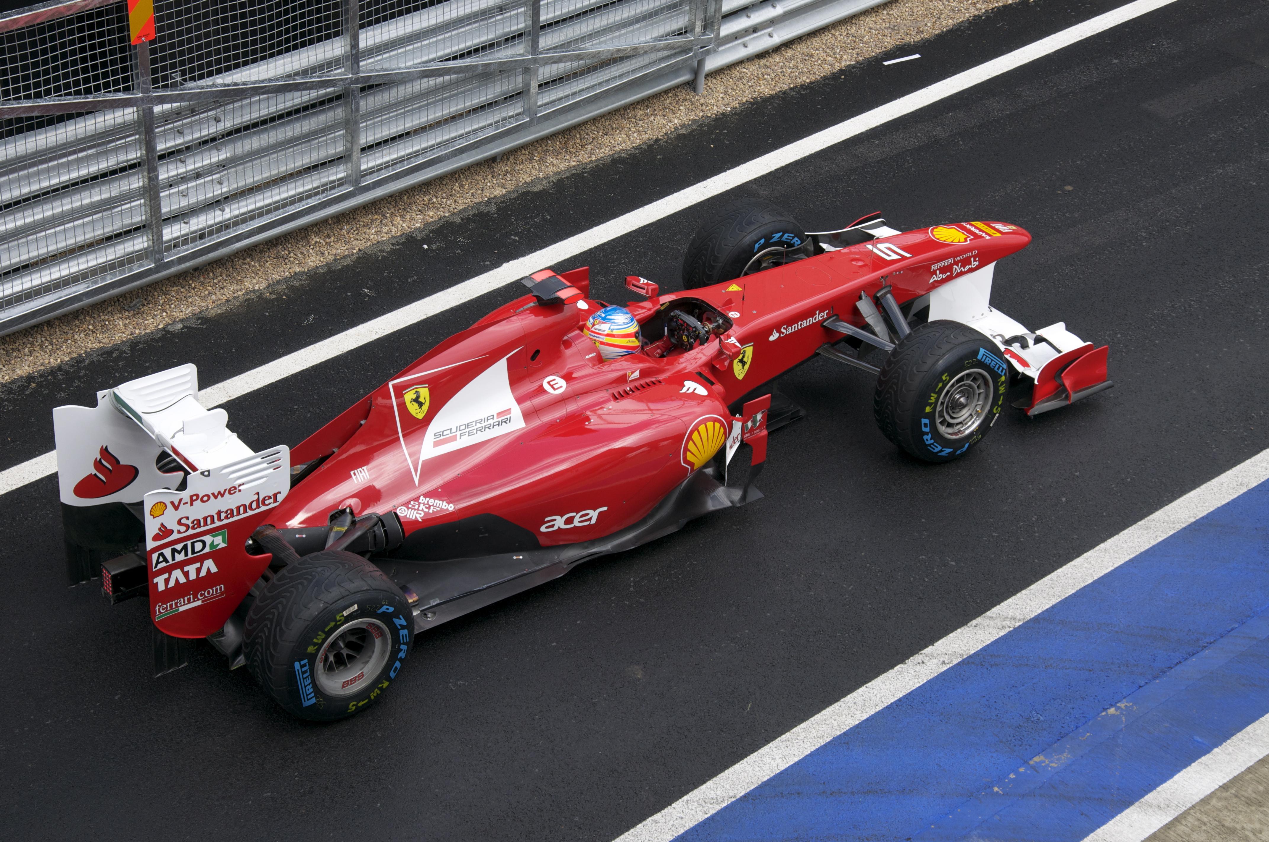 File:Alonso at pit-lane 2011 British GP.jpg - Wikimedia Commons