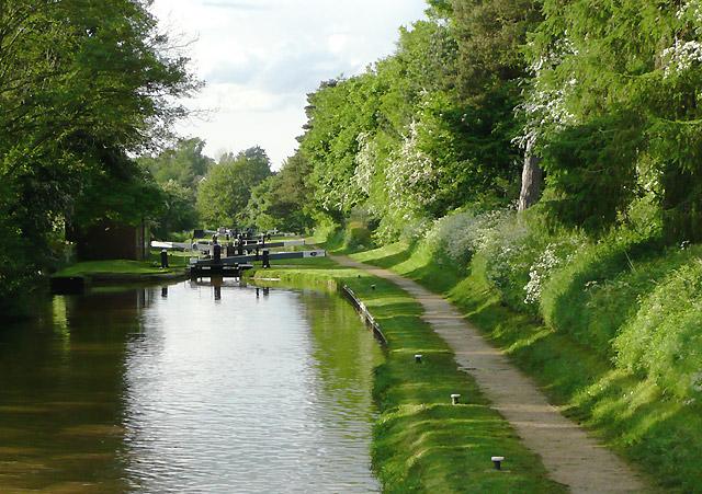 Audlem Locks, Shropshire Union Canal, Cheshire - geograph.org.uk - 1597811