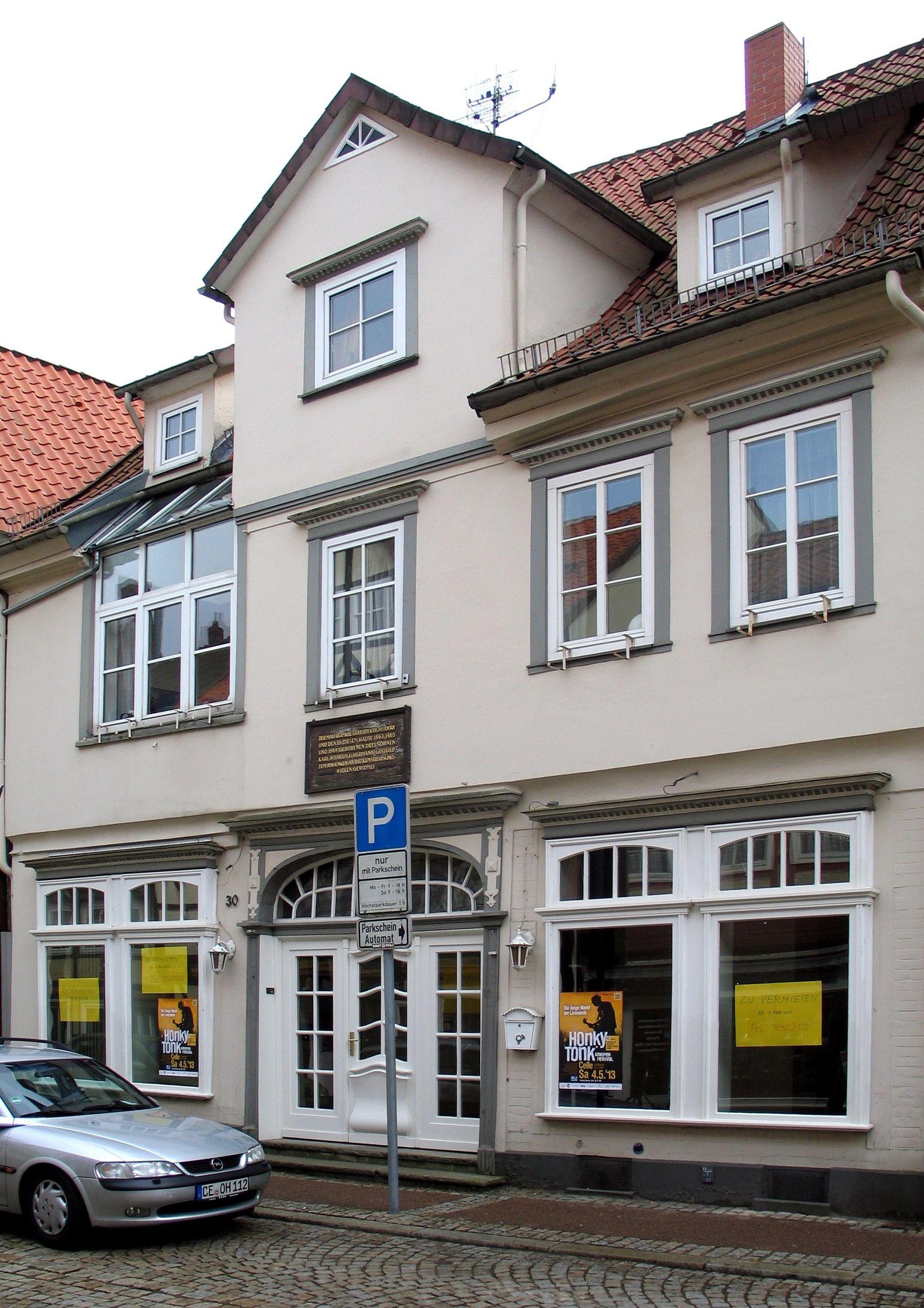 Maler Celle file bergstraße 30 celle hier wohnte die malerfamilie gottfried