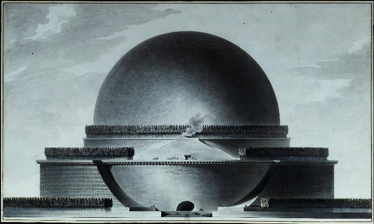 Fichier:Boullée - Cénotaphe à Newton - élévation.jpg