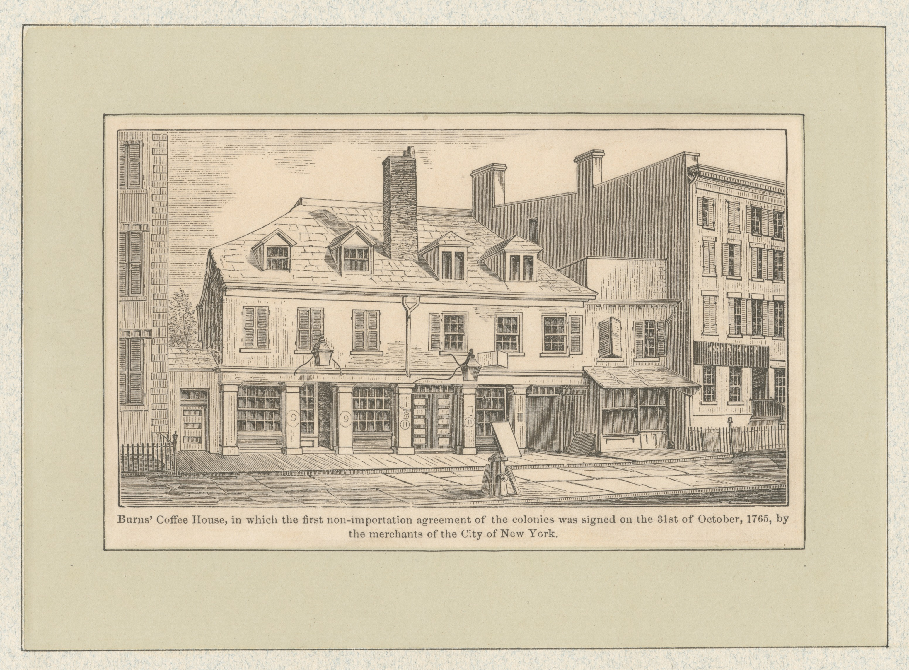 Fileburns Coffee House In Which The First Non Importation