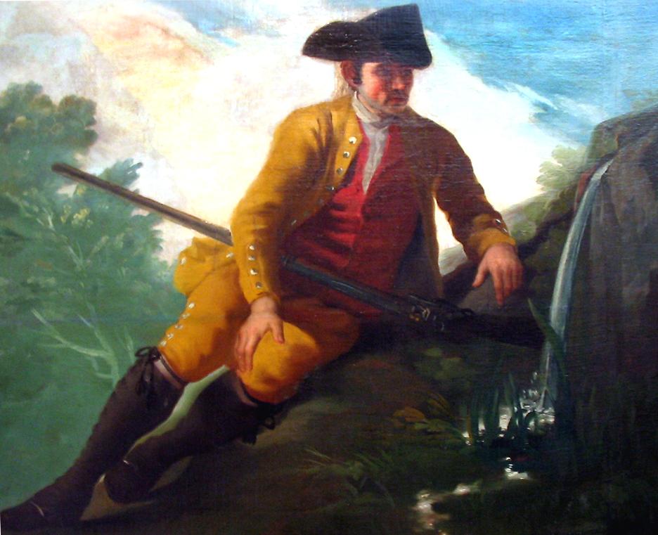 Depiction of Cazador junto a una fuente