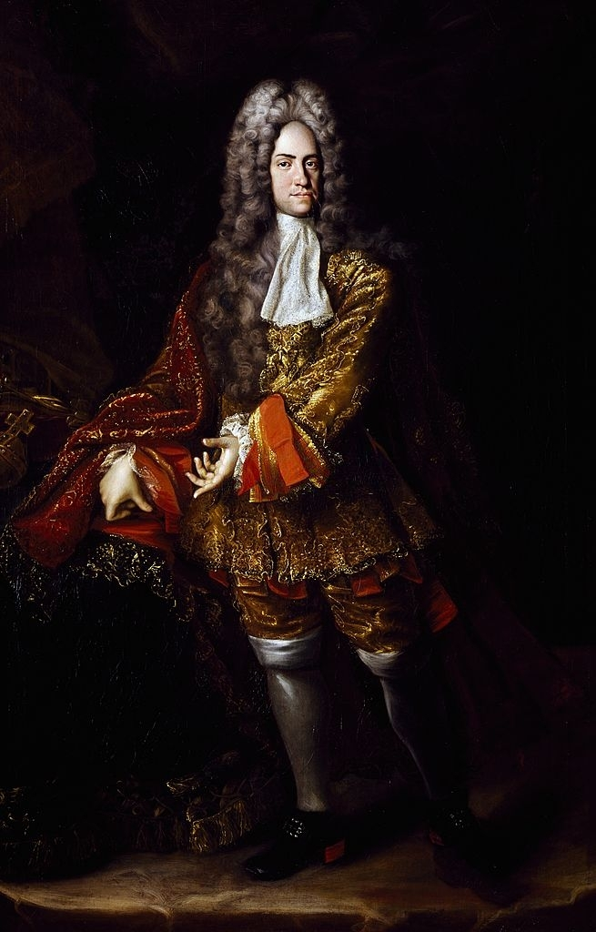 Charles VI, Holy Roman Emperor, in 1716. Portrait by Jan Kupecky. Byng's victory over the Spanish fleet ensured him the Sicilian throne. Charles VI 1716.jpg