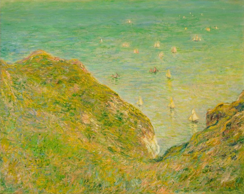File:Claude Monet - On the Cliff at Pourville, Clear ...