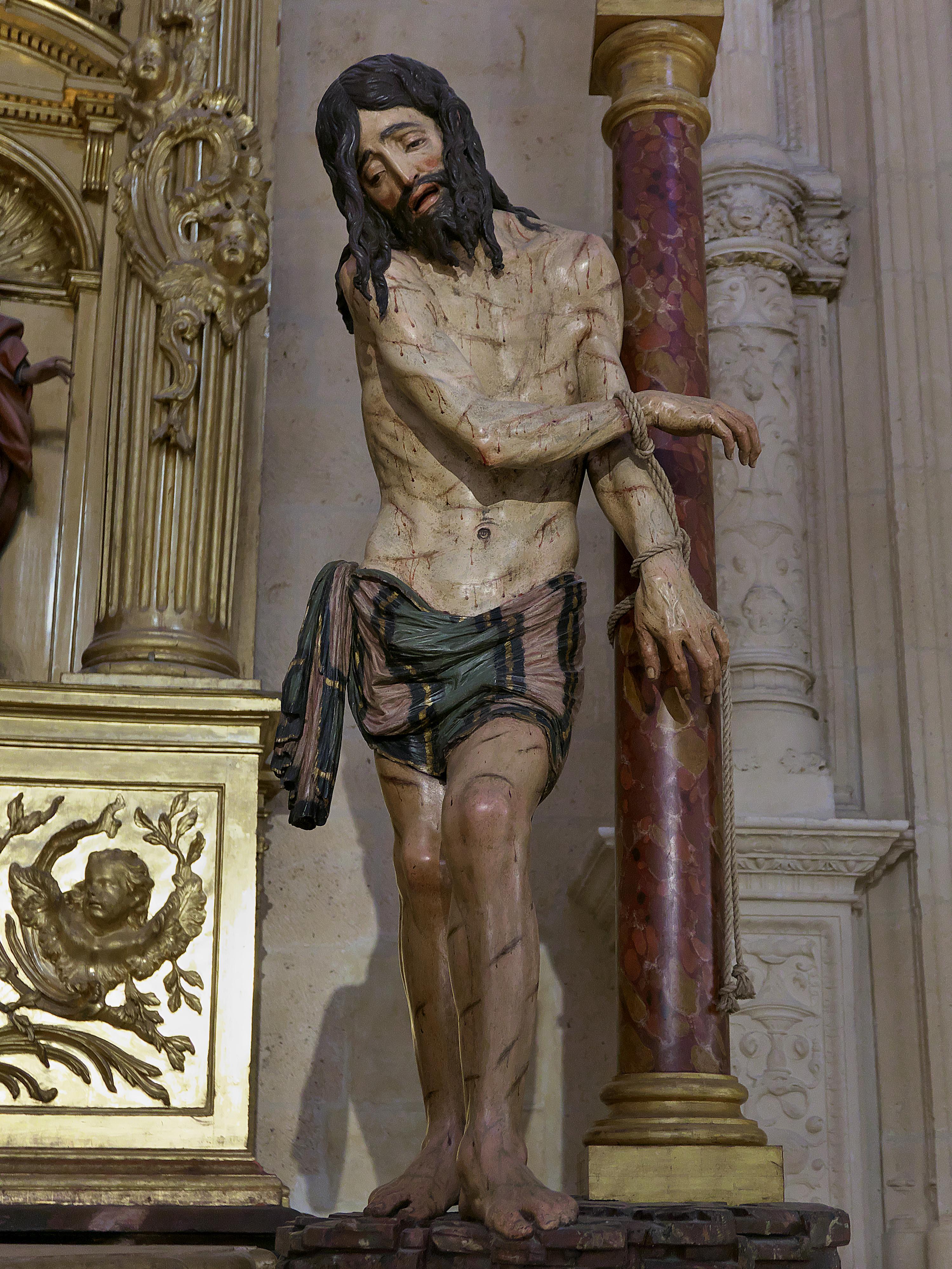 File Cristo Atado A La Columna Diego De Siloe Jpg Wikimedia Commons
