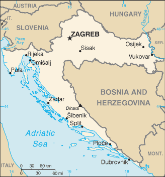 Croatia map with updated borders.png