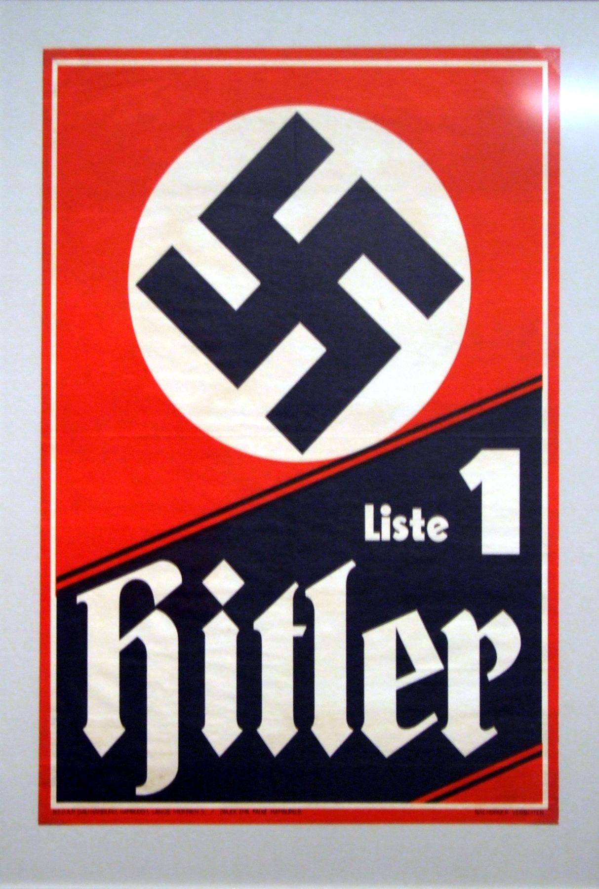 NSDAP plakat z roku 1933