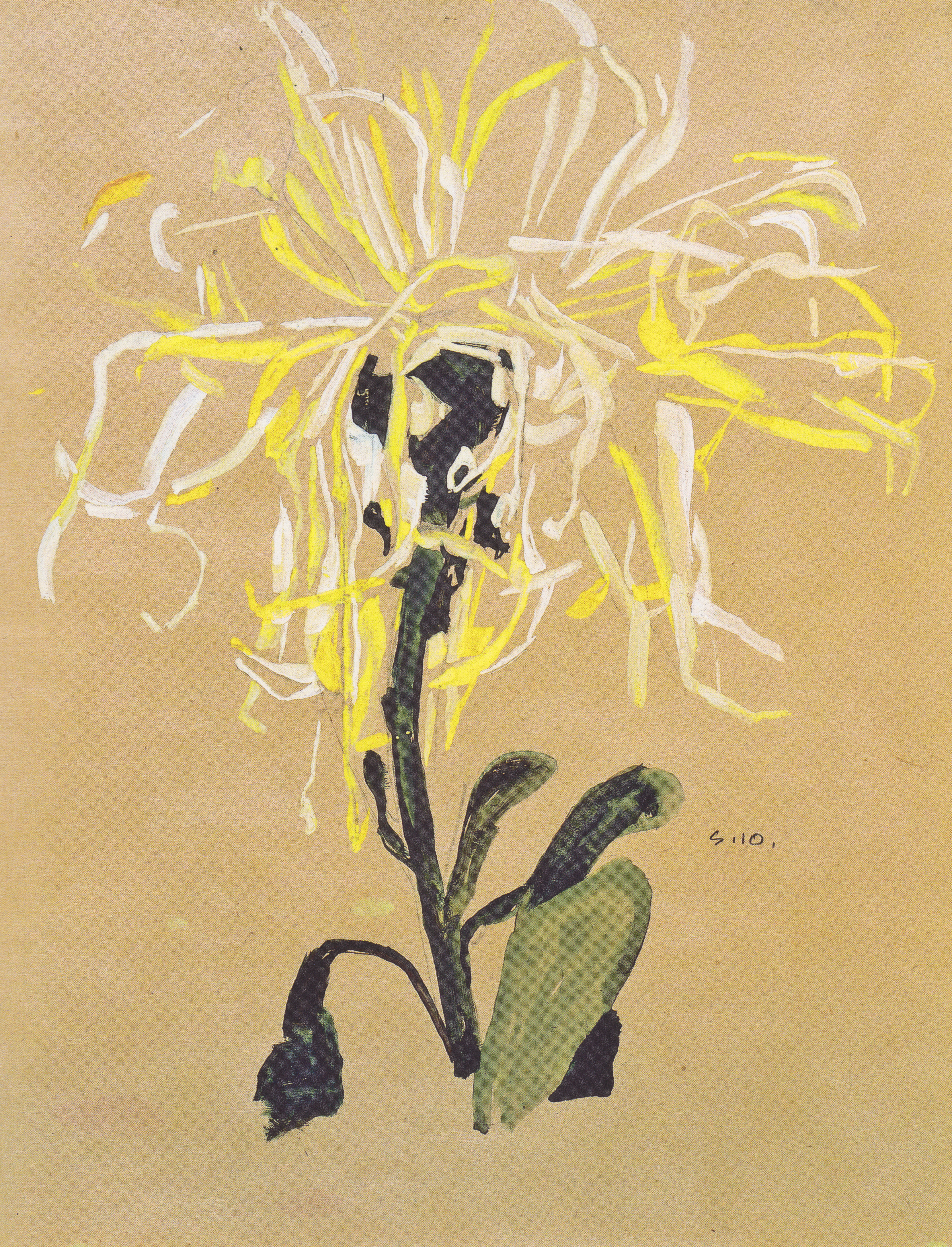 Chrysanthemum Painting Red