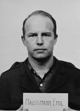 Emil Haussmann, mug shot taken for the Einsatzgruppen Trial