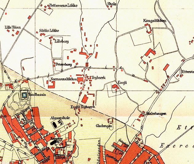 ensjø kart Fil:Ensjø kart 1887. – Wikipedia