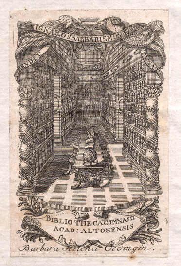 Ältestes Exlibris der Christianeums-Bibliothek (18. Jh.)