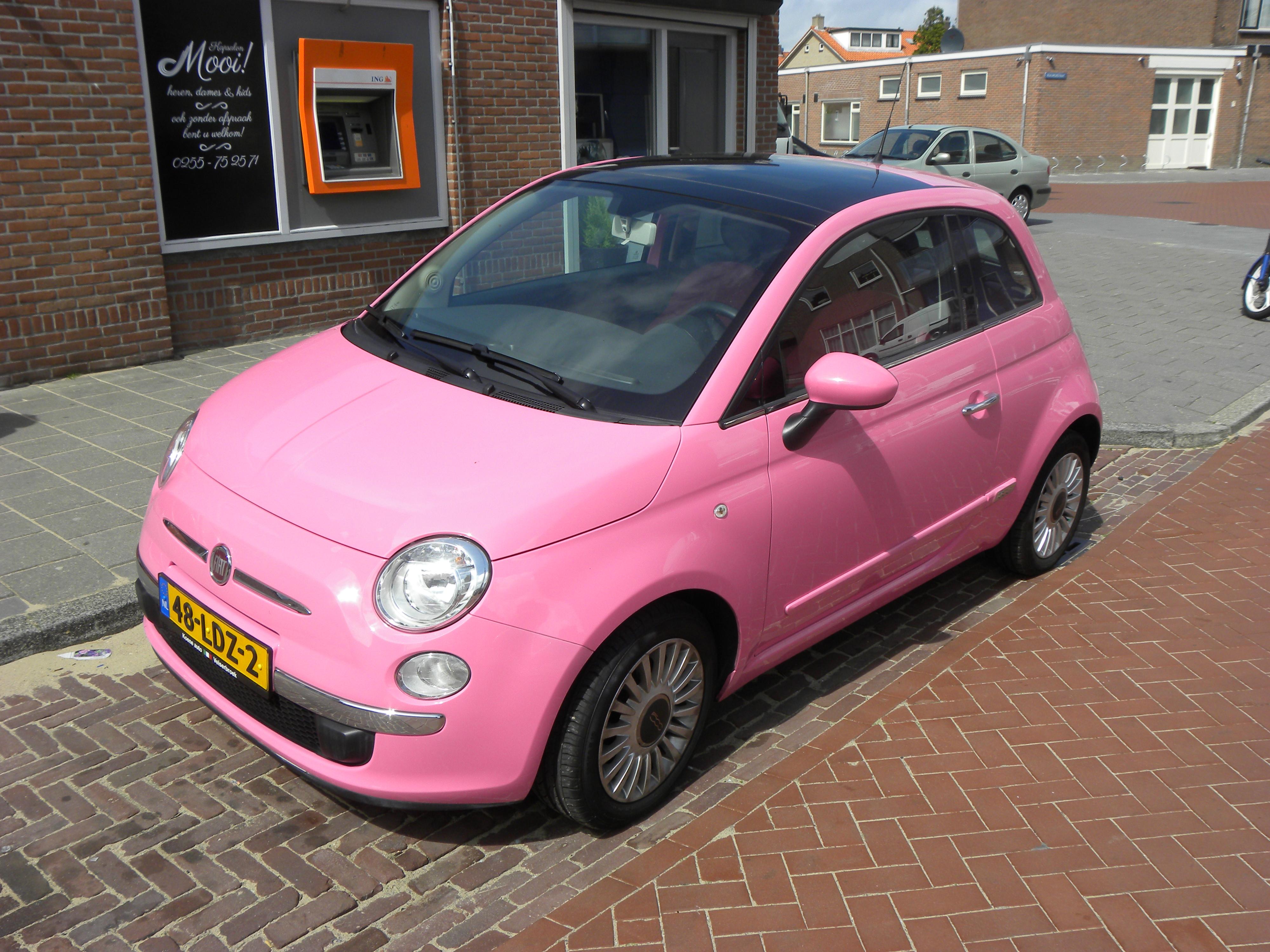 File Fiat 500 Pink 8744374918 Jpg Wikimedia Commons