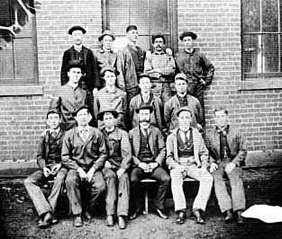 Georgia Tech's first two graduates were Henry L. Smith (top row, center) and George G. Crawford (top row, far right).