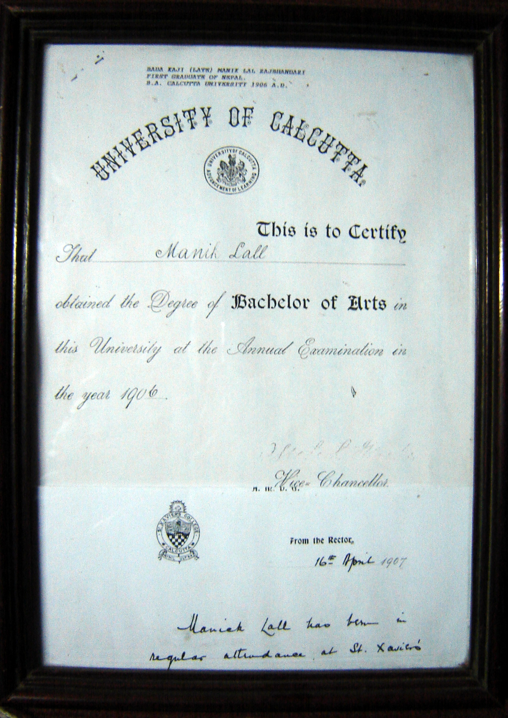 File:First Graduate from Nepal certificate.JPG - Wikimedia Commons