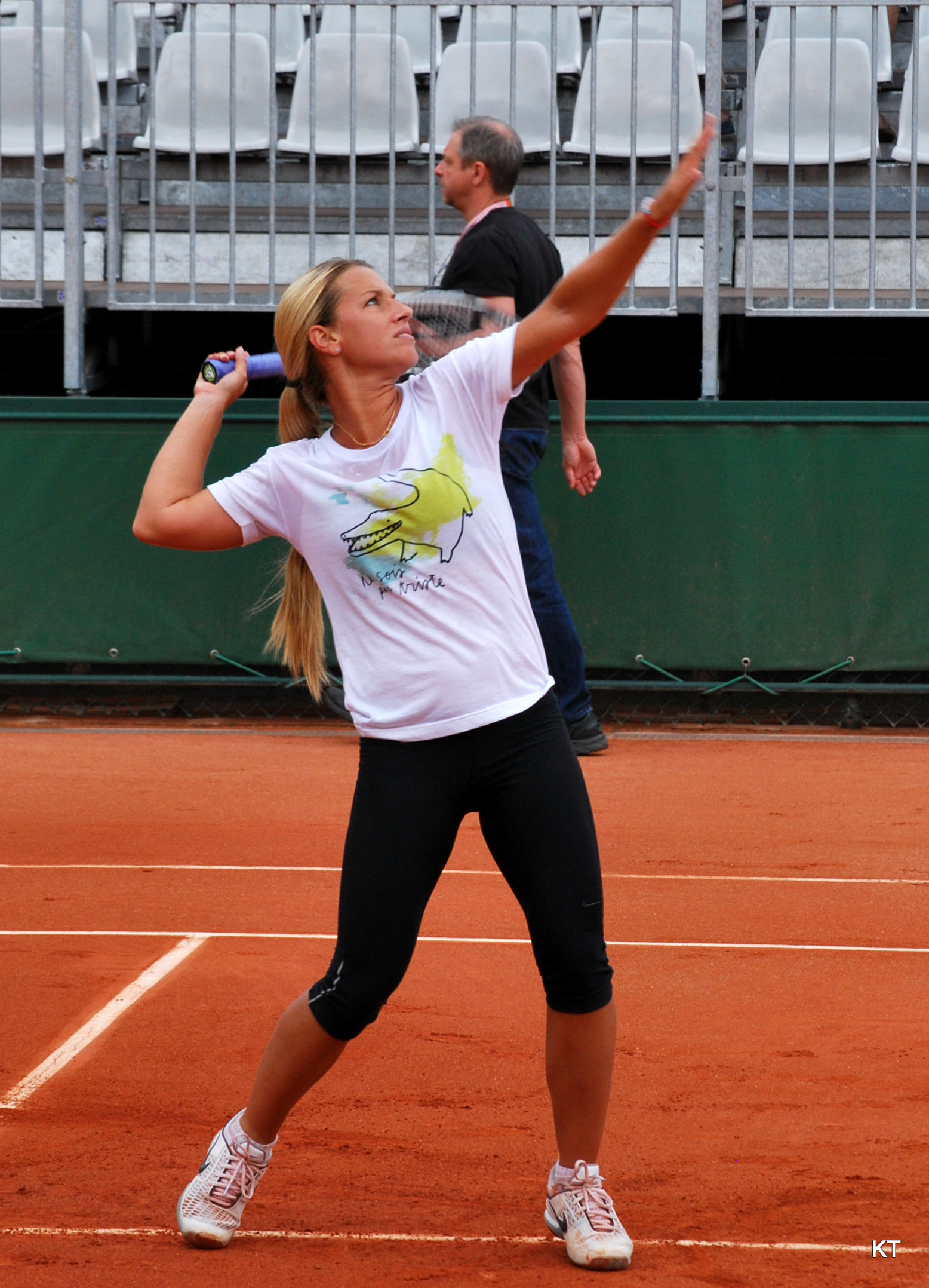 image Sabine lisicki training in legging