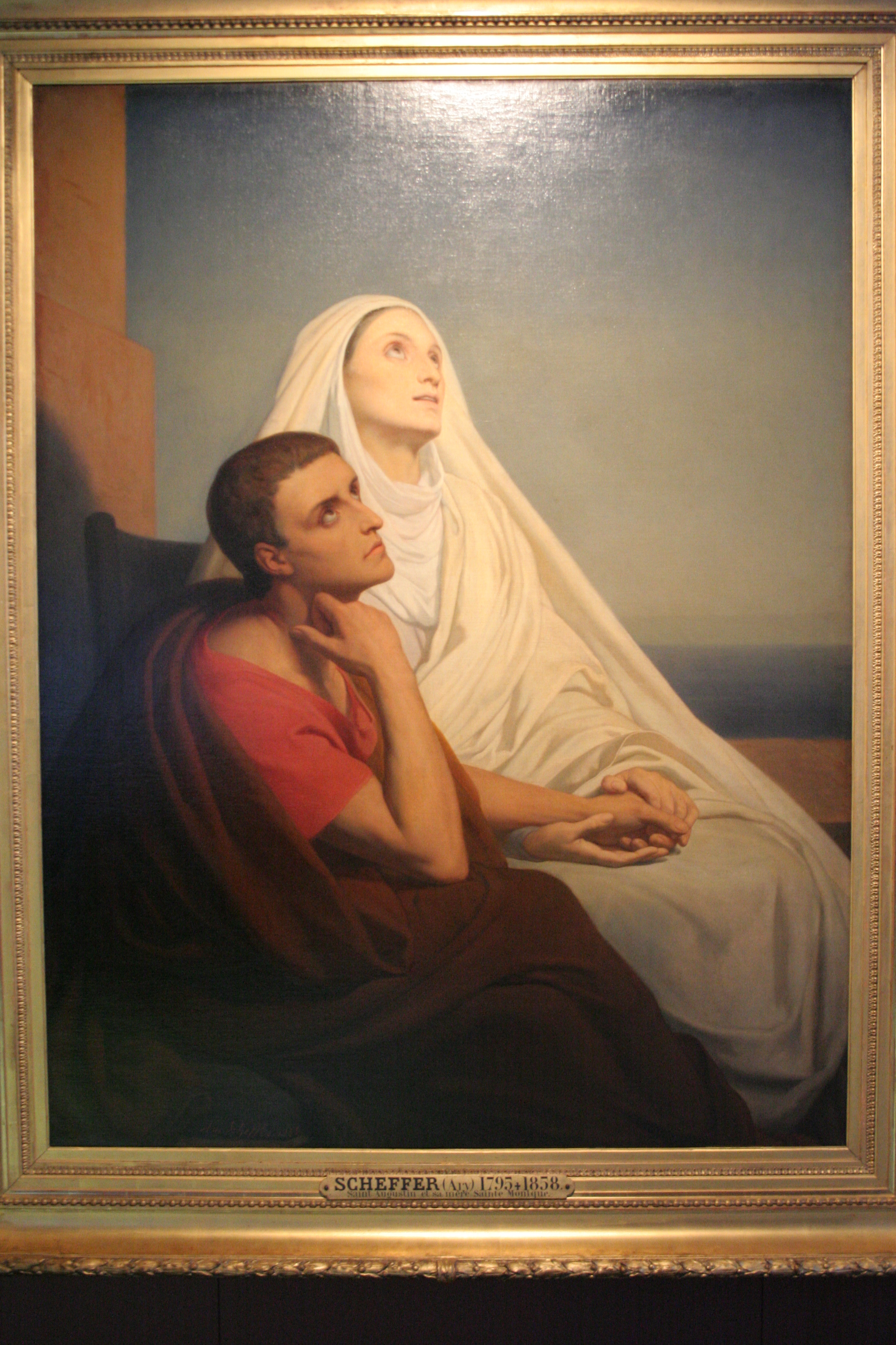 Augustine of Hippo and his mother Saint Monica by Johann Dréo from Chartres