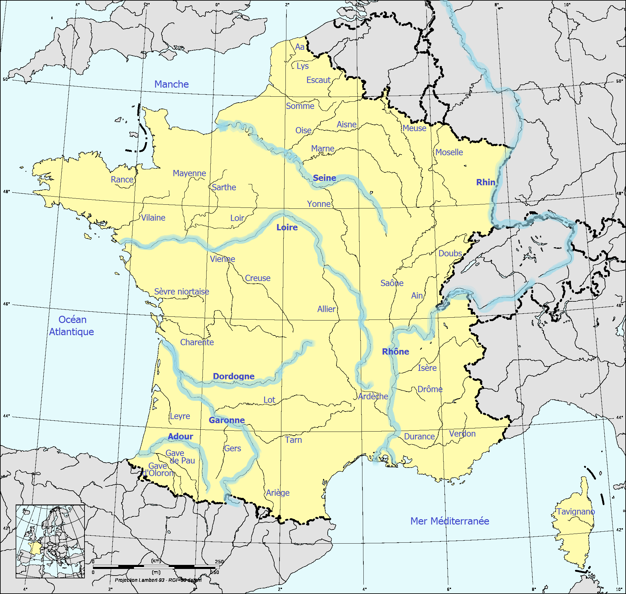 carte cours d eau france File:France fluvial.png   Wikimedia Commons