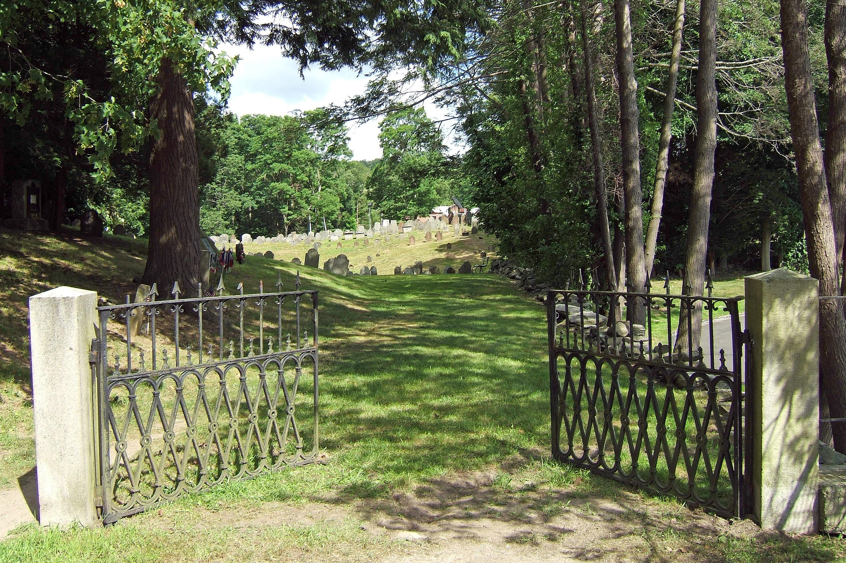 File Gate On Cemetery Road Old Norwichtown Burial Ground