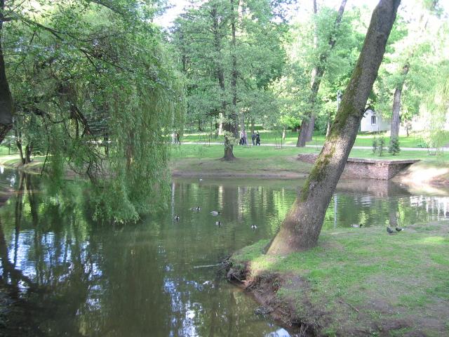 Русский: Минск, парк Горького,пруд
