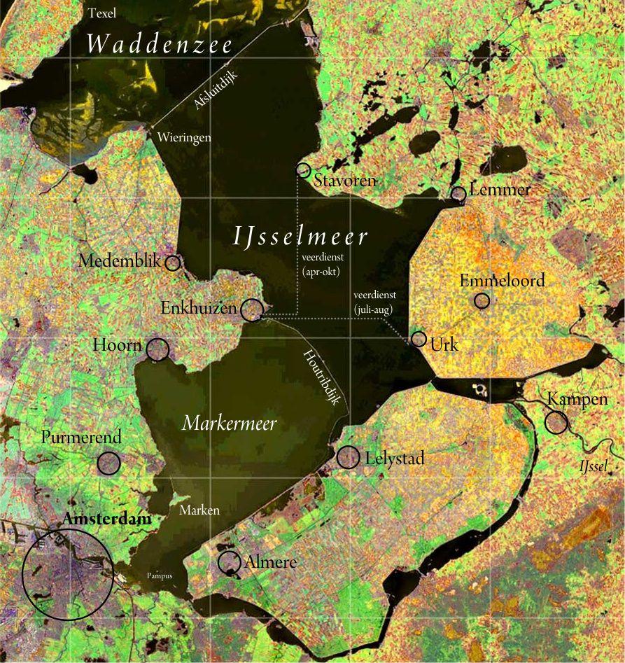 IJsselmeer Satelitenaufnahme - Quelle: WikiCommns