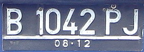 Vehicle registration plates of Indonesia Indonesia vehicle registration plates