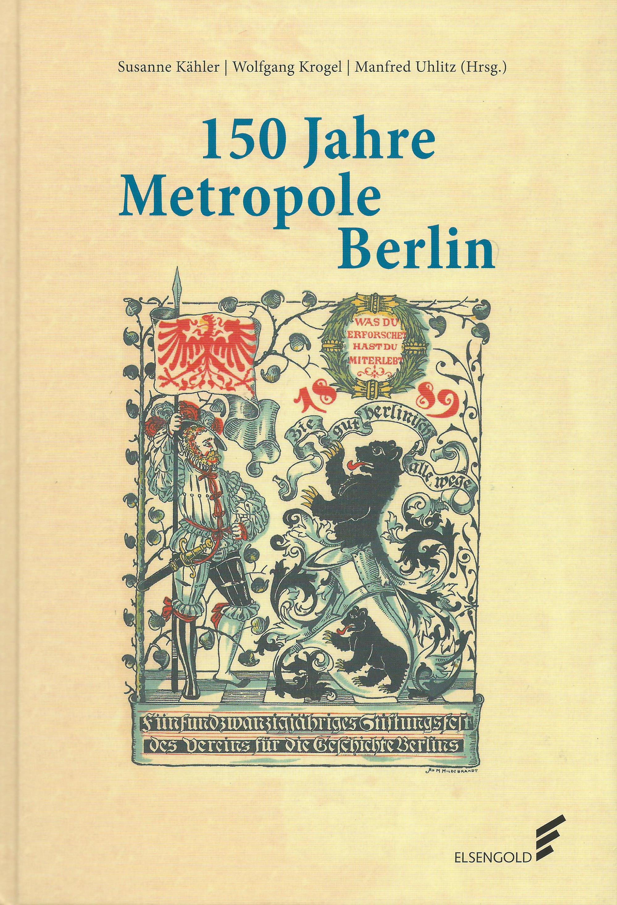 Dateijahrbuch Verein Für Die Geschichte Berlins Deckblatt 2014 15