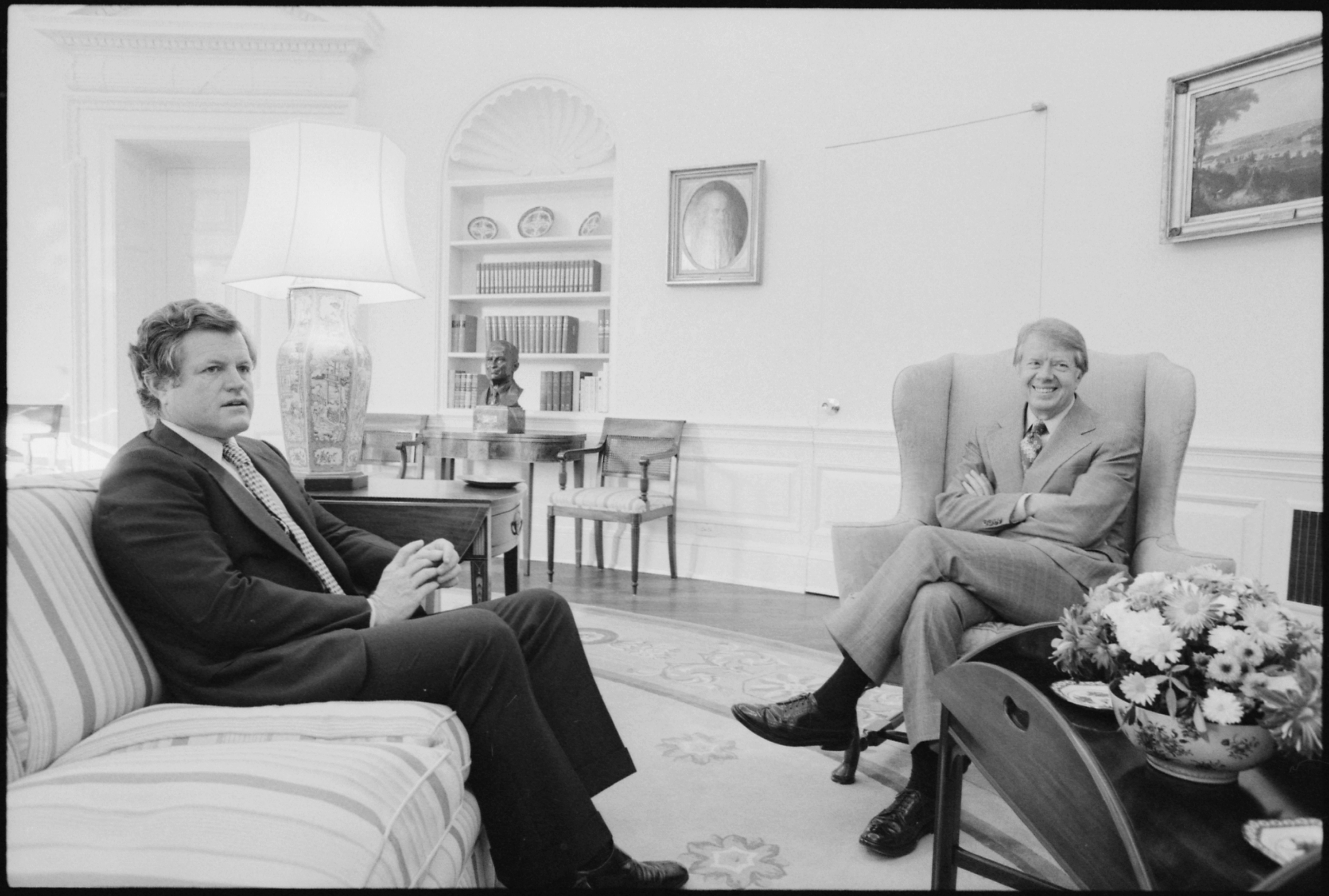 Jimmy carter oval office Study Filejimmy Carter Meets With Senator Edward Kennedy In The Oval Office Nara 176579jpg Wikimedia Commons Filejimmy Carter Meets With Senator Edward Kennedy In The Oval