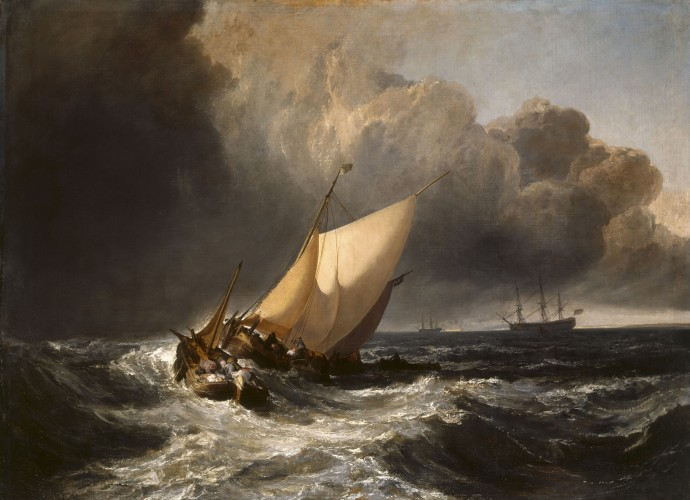 Dutch Boats in a Gale (1801), Joseph Mallord William Turner