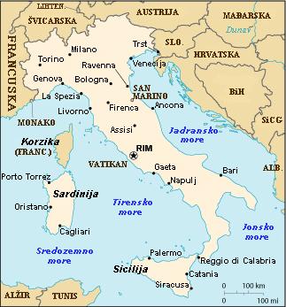 italija mapa gradova Italija   Južna Europa italija mapa gradova