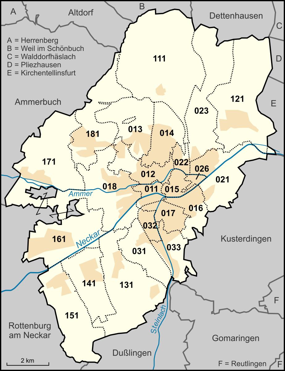 tübingen karte Datei:Karte Tübingen Stadtteile.png – Wikipedia
