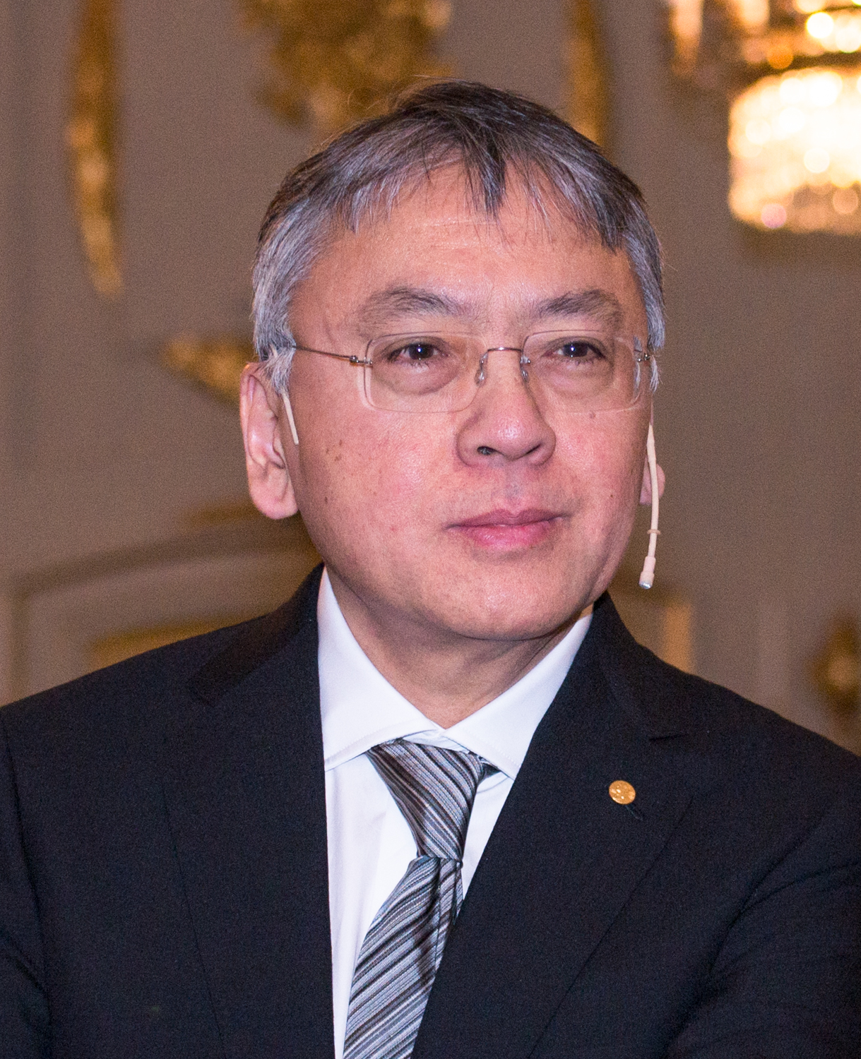 Ishiguro in Stockholm in December 2017