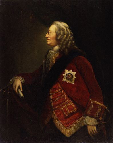 Portrait of King George II, c.1753, by or after Worlidge. King George II by Thomas Worlidge.jpg