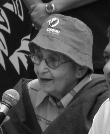 Lakshmi Sahgal in later life, at a political meeting in India Lakshmi Sahgal.jpg
