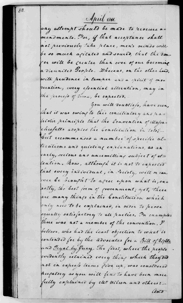 George Washington's 1788 letter to the Marquis de Lafayette observed,