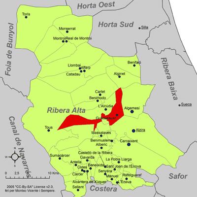 Fitxer:Localització de Guadassuar respecte de la Ribera Alta.png