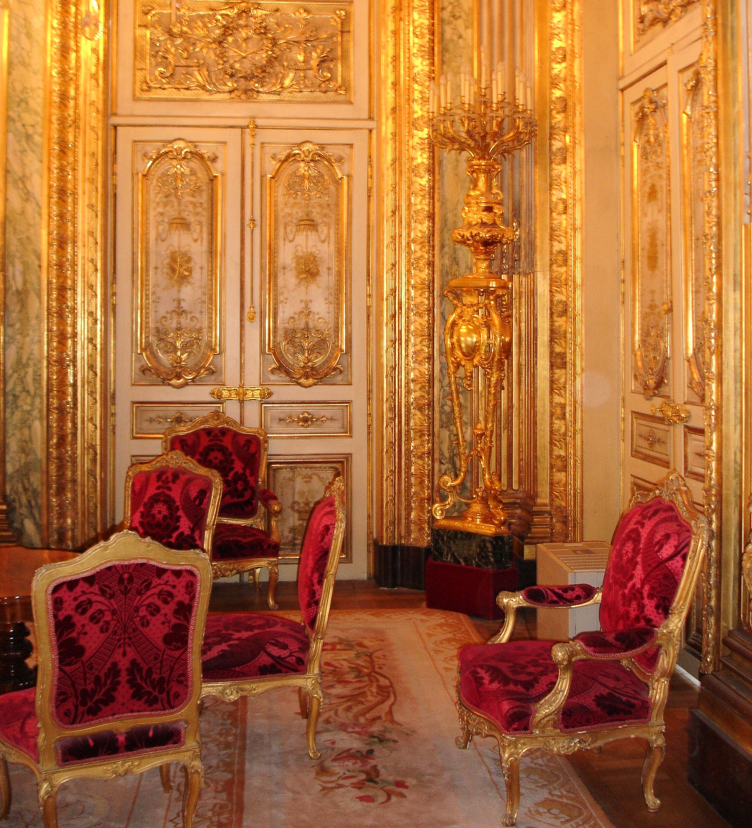 File louvre appartements napoleon iii grand for Salon appartement