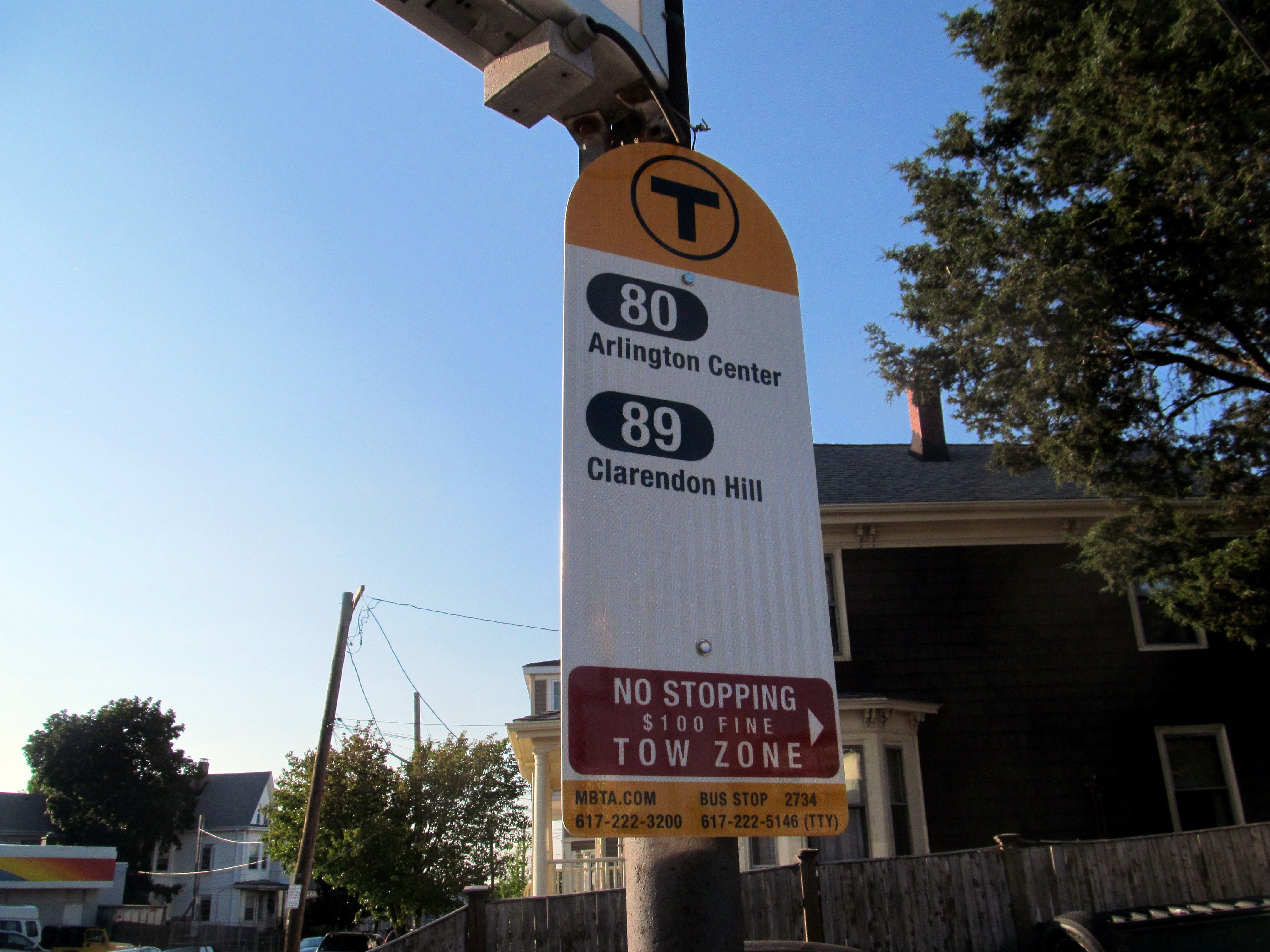 File:MBTA route 80 and 89 bus stop sign, July 2015 JPG - Wikimedia