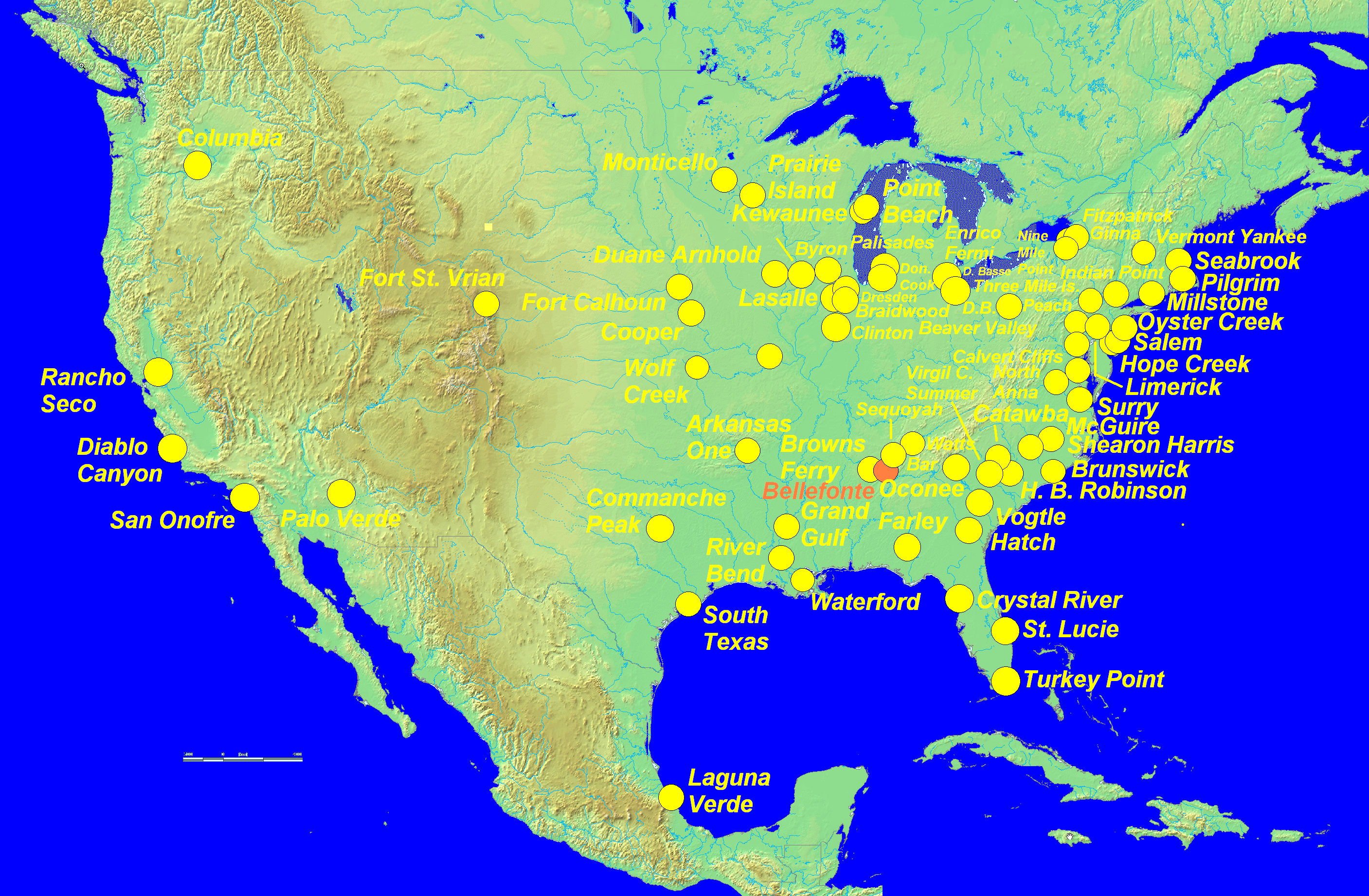 FileMap of Nuclear Plants US 02png Wikimedia Commons