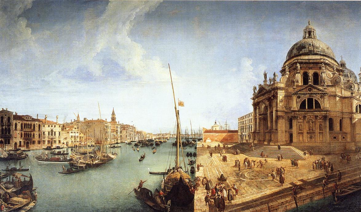L'Entrée du Grand Canal et l'église de la Salute à Venise