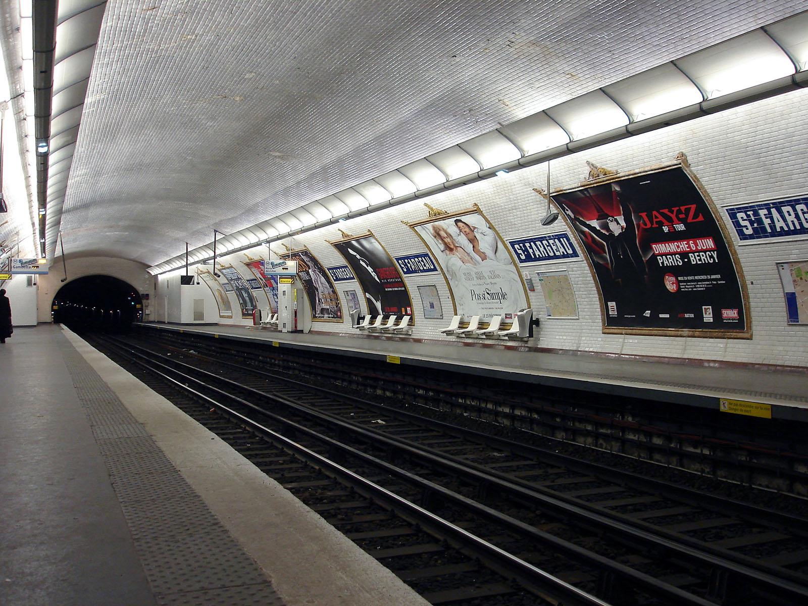 Ratp fermeture totale de la ligne 3bis du m tro parisien - Gare routiere paris gallieni porte bagnolet ...